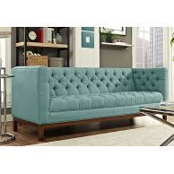 Give Modern makeover to your living room with Parslo Chesterfield Fabric Sofa by WoodenStreet #chestefieldsofa #fabricsofa