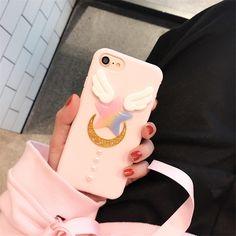 Mr.orange Cartoon Anime Sailor Moon Phone Case Pink Funda Coque For iphone 6 6s 7 7 plus All-inclusive Soft TPU Cover Capa Para