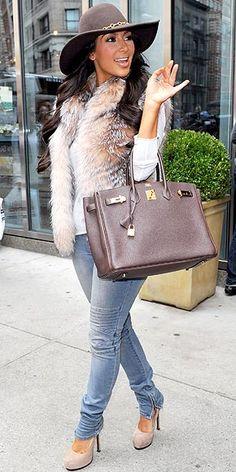 Kim Kardashian.... love her style