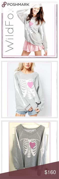 "✨💕WildFox ""My Beating Heart"" Sweatshirt💕✨ ✨WildFox Rare My Beating Heart Kim's Sweater✨Rare Now And Very Hard To Find, Particularly In A Large✨In Excellent Pre-Loved Condition✨It Was Just About New When I Bought It And I've Worn it Once✨Washed And Never In Dryer✨Oversized Fit✨French Terry 76% Cotton/ 24% Polyester✨Approx Measurements: Chest (Armpit-Armpit Seam)-25"" & Length Is 25.5""✨Size Large✨NO Trades✨ Wildfox Tops Sweatshirts & Hoodies"