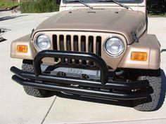 Rampage Front Double Tube Bumper fits 76-06 Jeep CJ5, CJ7, Scrambler, Wrangler - BOLD4WD