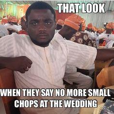 Please make sure you have enough food for your guests!! Lol. Post from Bella Naija FB.  #bellanaijaweddings #weddingdigestnigeria #nigerianweddings Follow @ChiefWedsLolo.com - Nigerian Wedding Planning Blog (Traditional and Church/Mosque) for more Nigerian wedding quotes!