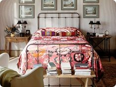 bohemian bedroom - guest bedroom; love the bed ends!