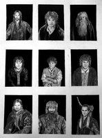 The Fellowship of the Ring Portraits #LordoftheRings