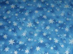 Holiday Accents Medium Blue Silver Metallic Little Snowflake Christmas Fabric  #RJRFabrics