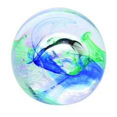 Mooncrystal Ocean Blue - Paperweights   Caithness Glass Paperweights