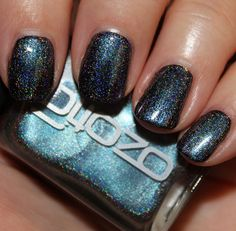 ozotic 533 - blue/purple multichrome with holo shimmer (over black)