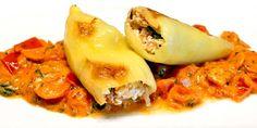 Low Carb Rezept | Gefüllte Spitzpaprika mit Frischkäse