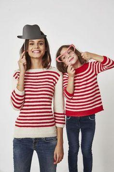 Patron gratuit pour tricoter une marinière pour adulte et enfant - Alice Hammer - Marie Claire Idées