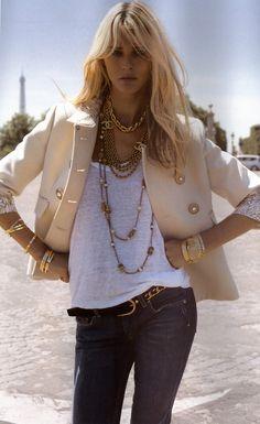 Carmen Kass in Toute Allure for Vogue Paris, August 2006