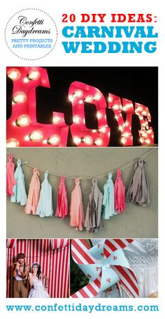 20 DIY Carnival Theme Wedding Ideas | Confetti Daydreams - DIY Carnival Theme Wedding Inspiration ♥  #Carnival #Circus #Theme #Wedding #DIY