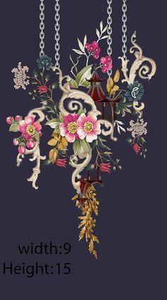 Baroque Pattern, Pattern Art, Pattern Design, Print Design, Textile Prints, Textile Design, Textiles, Ethnic Patterns, Vintage Patterns