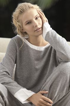 Picture # 55235 of Gintare Sudziute with high quality pics,images,pictures and photos. Grey Fashion, Sport Fashion, Fashion Models, Cotton Sleepwear, Lingerie, Weekend Wear, Comfortable Outfits, Mannequins, Celebrity Pictures