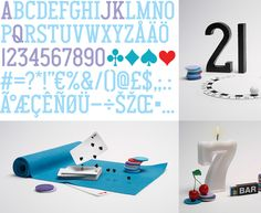 playing card typography