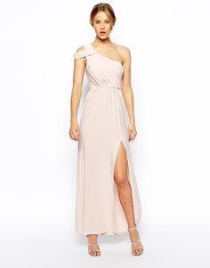 this is pretties. ASOS $85 Enlarge ASOS One Shoulder Drape Maxi Dress