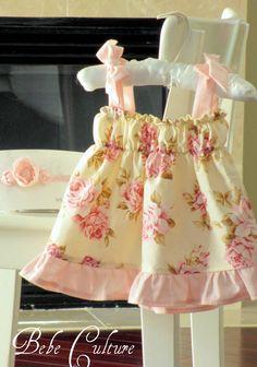 Shabby chic dress, Coming home dress, arrival dress, spring floral dress, newborn -4t. $31.00, via Etsy.