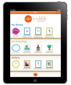 ScribblePress-iPad lets kids create a book. Free app for ipad