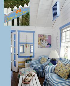 99 Steps to the Beach maintains its cottage feeling but now is light and bright with Coslick's simple color palette. (Photo by Richard Leo Johnson/Atlantic Archives.)