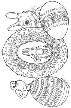 Easter Coloring Sheets for Adults Inspirational Easter Eggs Colouring Sheets For Adults, Easter Egg Coloring Pages, Coloring Book Pages, Coloring Pages For Kids, Kids Coloring, Easter Art, Easter Crafts, Bunt, Stencil