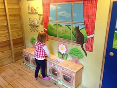 Inspire children to use their imaginations, the Little Farmer's Fun Barn and farm cottage kitchen for kids! Found at Farmer Palmer's Farm Park | Poole | Dorset | UK. Great ideas for kids days out.