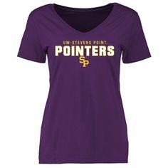 Wisconsin-Stevens Point Pointers Women's Team Strong Slim Fit T-Shirt - Purple - $21.99