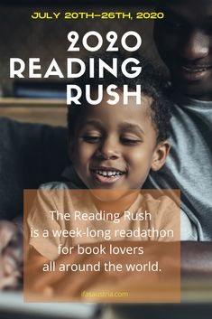 """The reading rush is a week-long readathon for book lovers all around the world. Visit thebookrush.com for more infos. We're at the Ifas Austria also love to read. To you want to improve your English while reading out of the best books? Then visit out website to learn more about our new """"Out of the best books"""" course. ifasaustria.com/course"""