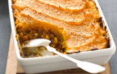 Simple healthy vegetarian recipes that are as nutritious as they are delicious. Our recipes are vegetarian, dietitian approved and tested by experts. Traditional Shepherds Pie, Vegetarian Shepherds Pie, Whole Food Recipes, Cooking Recipes, Mashed Sweet Potatoes, Vegetarian Recipes, Baking, Vegetables, Ethnic Recipes