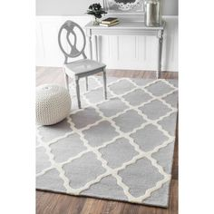 Shop Joss & Main for your Monica Rug in Light Gray. Features:HandmadeRug pad is neededRug is not non slipWashable: YesDistressed: NoCollection: ModernaDwell Studio Rug Pad Included: NoPrimary Pattern: GeometricPrimary Color: Light gray; whiteGender: NeutralBorder: YesBorder Material: Border Mate...