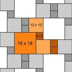 Three size pattern