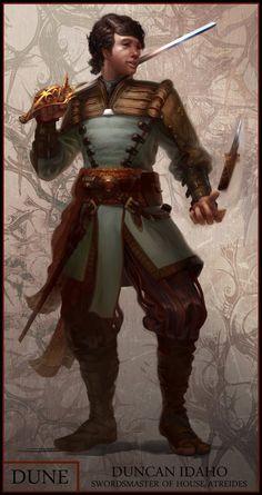 Sword master Duncan Idaho, house Atredies #scifi #art #illustration