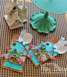 Die-Namites & Craftwell Week: 'Wedding Silverware Holder' by Pam Bray - Craftwell Blog