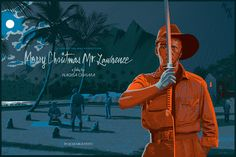 Nagisa Oshima's Merry Christmas Mr. Lawrence Poster by Laurent Durieux. Merry Christmas Mr Lawrence, Nagisa Oshima, Laurent Durieux, Omg Posters, Coppola, Japanese Film, Pop Culture Art, Alternative Movie Posters, Movie Poster Art