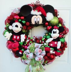 Christmas Disney Wreath with Mickey and by SparkleForYourCastle