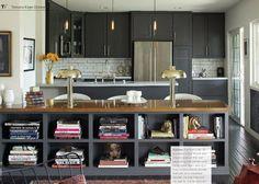Dark grey kitchen : Marcus Design: {weekend reading ...}
