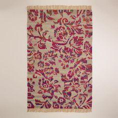 Gypsy Interior Design-Dress My Wagon  Serafini Amelia  One of my favorite discoveries at WorldMarket.com: 5'x8' Recycled Silk Flatwoven Rug
