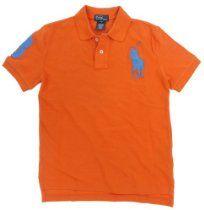 Polo Ralph Lauren Boys Mesh Big Pony Logo Polo Shirt