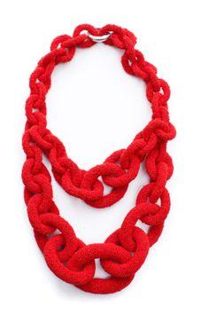 Red K & S necklace by  Ek-thongprasert natasha-goldenberg