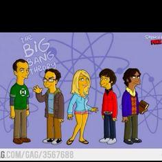 The big bang theory, Simpson style!