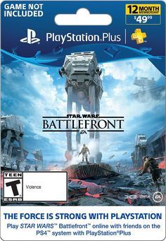 Sony - 12-Month Membership Subscription, SONY PS4 STRWARS:BATTLEFRONT $