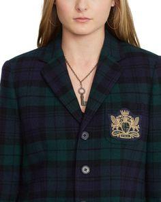 Tartan Wool-Cashmere Blazer - Jackets  Women - RalphLauren.com