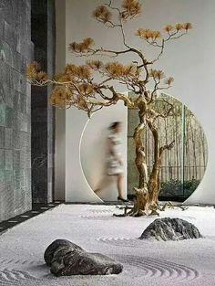 Zen Garden Design, Japanese Garden Design, Chinese Garden, Landscape Design, Jardin Zen Interior, Interior Garden, Japanese Interior Design, Asian Design, Zen Interiors