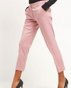 Minimum HALLE Spodnie materiałowe damkie różowe eleganckie wood rose