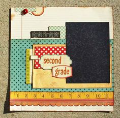 Dee Walker - Vintage School Days Layout Kit