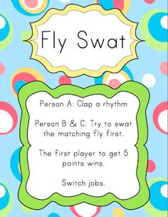 This lady has wonderful ideas that are FREE to download! Elementary Music Resources: Centers: Fly Swat