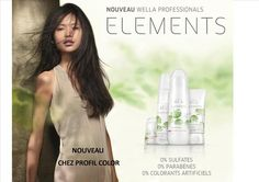 Descover the new collection Elements Wella with free parabens, free sulfates and free colourants