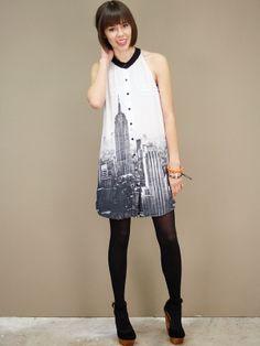 City print dress.