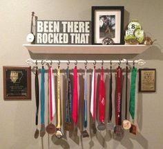 Cute shelf with medals