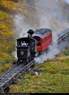 RailPictures.Net Photo: MWRC 9 Mount Washington Cog Railway Steam 0-2-2-0 Cog at Mount Washington, New Hampshire by Steve Patterson