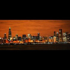 Chicago skyline- what i miss seeing on clear nights on the lake