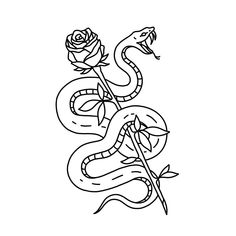 Classic snake rose, tshirt now under pre-order, link in bio 🍒 - Notecards Diy Tattoo Sketches, Tattoo Drawings, Demon Drawings, New Tattoos, Tribal Tattoos, Tatoos, Diy Note Cards, Trippy Drawings, Ink Art